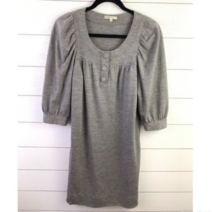 Vince Grey 3/4 Sleeve Wool Button Dress Size Small